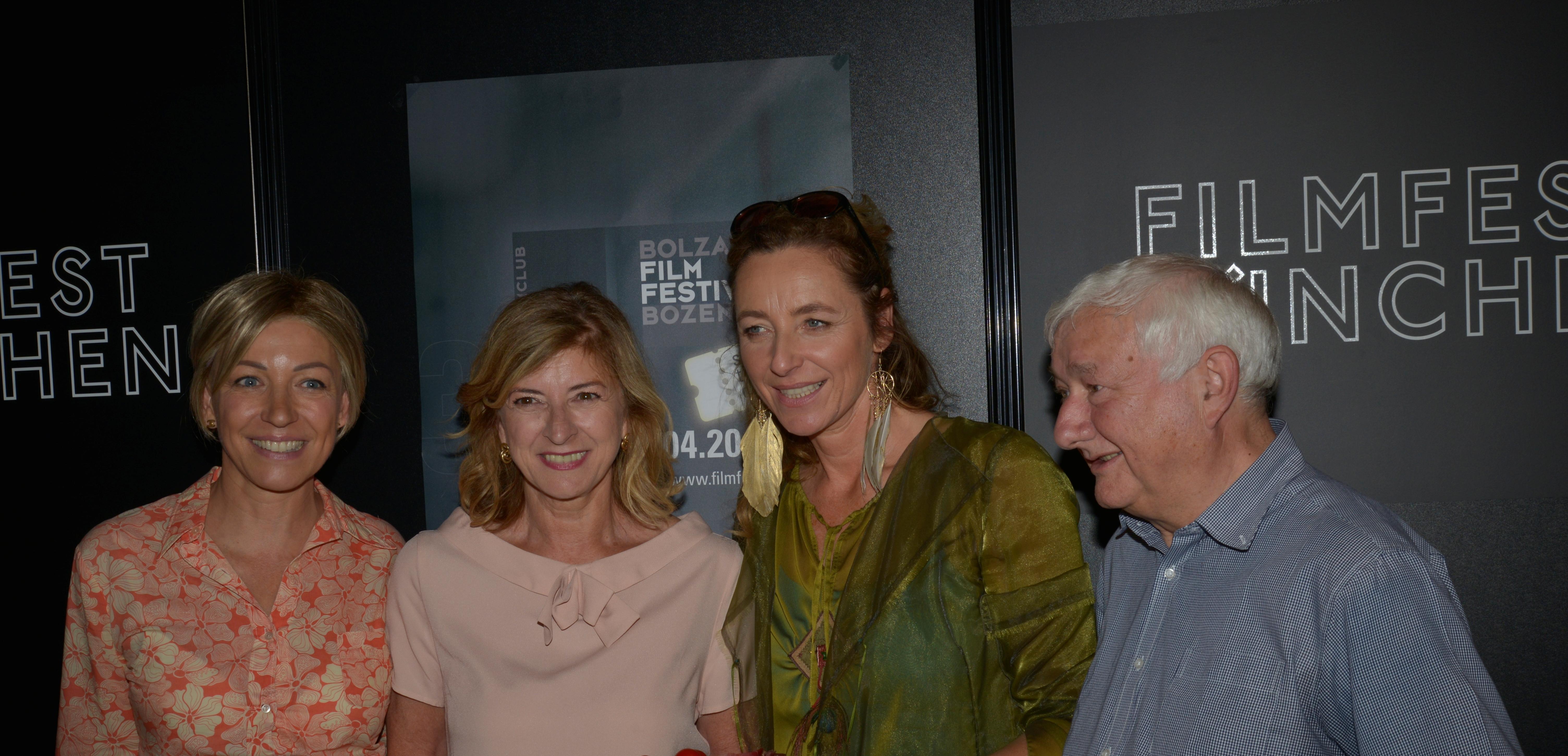 v.l. Antonella Arseni, Helene Christanell, Diana Iljine, Martin kaufmann.Filmfestival München2 127